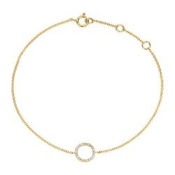Armband Kreis für Damen aus 14K Gold mit Diamanten