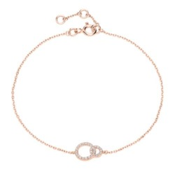 Armband Kreise aus 14K Roségold mit Diamanten