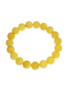 Armband – Kugel 10 mm – Bernstein – , OSTSEE-SCHMUCK gelb