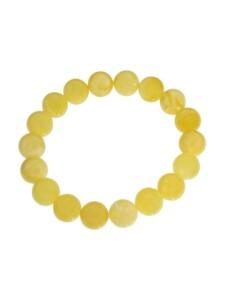 Armband – Kugel 11 mm – Bernstein – , OSTSEE-SCHMUCK gelb