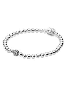 Armband – Kugel & Pavé – Pandora Silberfarben