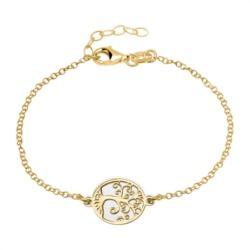 Armband Lebensbaum 925er Silber vergoldet gravierbar