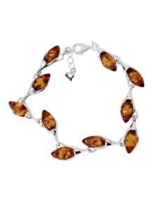 Armband – Line – Silber 925/000 – Bernstein OSTSEE-SCHMUCK silber