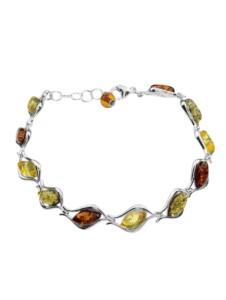 Armband – Marlies – Silber 925/000 – Bernstein OSTSEE-SCHMUCK silber