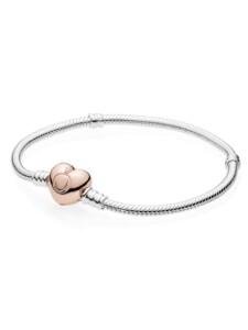 Armband mit Herz-Verschluss Pandora Roségoldfarben