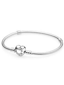 Armband mit herzförmigem Kugelverschluss Pandora Silberfarben