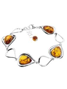 Armband – Nicoletta – Silber 925/000 – Bernstein OSTSEE-SCHMUCK silber