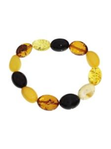 Armband – Olive 18 x 12 mm – Bernstein – , OSTSEE-SCHMUCK mehrfarbig