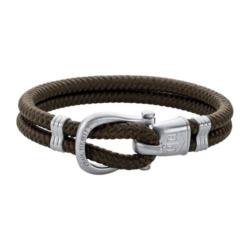 Armband Phinity für Herren aus Nylon, olive