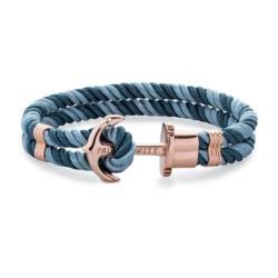 Armband Phrep aus blauem Nylon mit Anker
