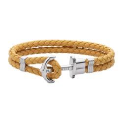 Armband Phrep aus Leder in Canary mit Ankerverschluss