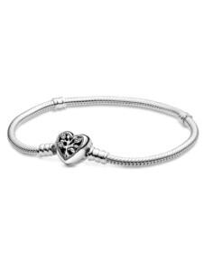 Armband – Stammbaum mit Herzverschluss – Pandora Silberfarben