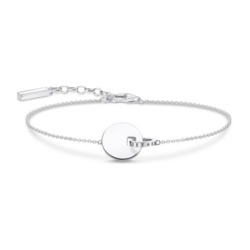 Armband Together Coin aus Sterlingsilber, gravierbar