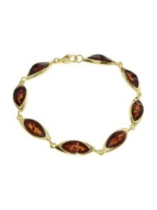Armband – Tonje – Silber 925/000, vergoldet – Bernstein OSTSEE-SCHMUCK gelb