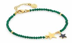 Armband von Nomination Kristalle Sterne 148302/016 in Silber golden