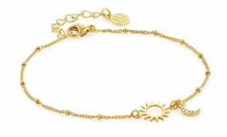 Armband von Nomination Sonne Mond 148300/021 in Silber golden