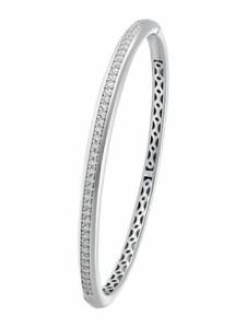 Armreif für Damen, Sterling Silber 925, Zirkonia JOOP! Silber