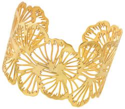 Armreif 'Ginkgoblatt', Version vergoldet, Schmuck