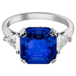 Attract Cocktail Ring, blau, Rhodiniert