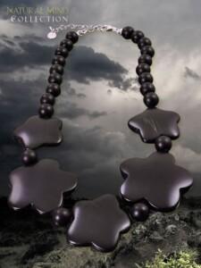 Basalt Halskette 1001 Diamonds schwarz