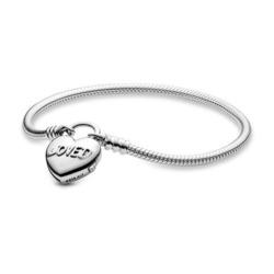Basis Armband mit Herz-Verschluss aus 925er Silber