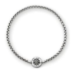 Bead Armband aus Sterlingsilber, geschwärzt