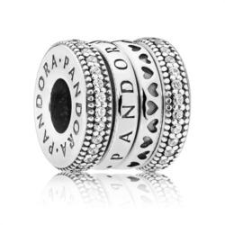 Bead Spinning Hearts aus 925er Silber Zirkonia