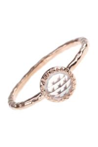 Bergkristall Ring rosé vergoldet
