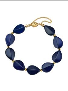 Bernstein-Armband Diemer Farbstein Blau