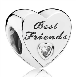 Best Friends Charm 925er Silber Zirkonia