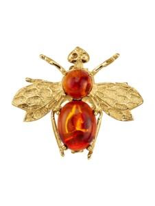 Bienen-Brosche KLiNGEL Gelb