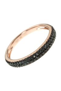 BLACK DIAMOND Memoire Ring Roségold
