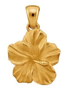 Blüten-Anhänger Diemer Gold Gelbgoldfarben