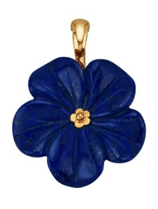 Blüten-Clip-Anhänger Diemer Farbstein Blau