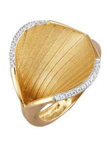 Blüten-Ring Diemer Gold Gelbgoldfarben