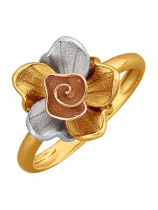 Blüten-Ring Diemer Gold Multicolor