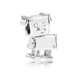Bobby Bot Charm aus 925er Sterlingsilber