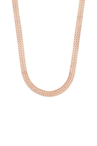 BOX CHAIN Choker rosé vergoldet