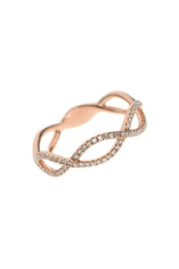 BRAIDED Layer Ring 14k Roségold