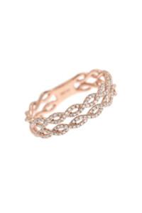 BRAIDED Ring 14k Roségold