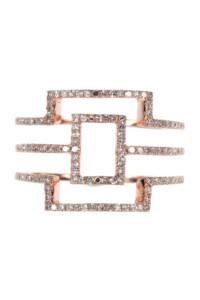BREE Roségold Ring Diamanten