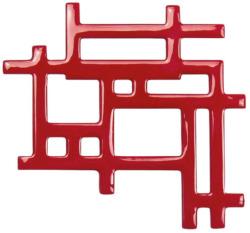 Brosche 'Asian Red', Brosche, Schmuck