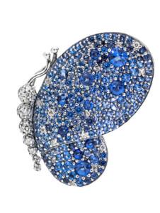 Brosche -Blendender Schmetterling- Pandora Blau