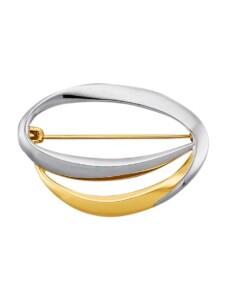 Brosche Diemer Gold Gelbgoldfarben