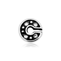 Buchstaben Charm C 925er Silber mit Zirkonia