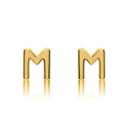 Buchstaben Ohrstecker aus 14-karätigem Gold