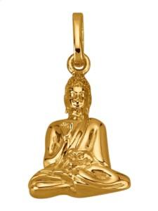 Buddha-Anhänger Diemer Gold Gelbgoldfarben