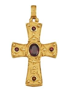 Byzanz-Kreuz-Anhänger KLiNGEL Gelbgoldfarben
