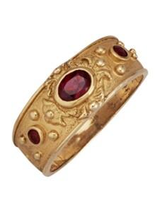 Byzanz-Ring KLiNGEL Gelbgoldfarben