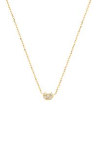 CAT Halskette 10K Gelbgold